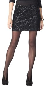 INC International Concepts Mini Skirt Black Sequin