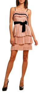 Diane von Furstenberg Jules Pink Layered Pleated Dvf Dress