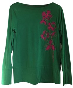 The North Face Flower T Shirt Emerald green