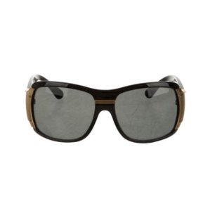 Dolce&Gabbana black oversized sunglasses with gold trim