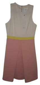 Erin Fetherston short dress Ivory Pink and yellow Colorblock A-line on Tradesy