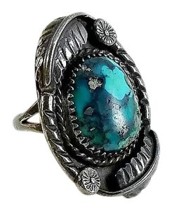 Other Native American Morenci Turquoise Ring Size 5.5