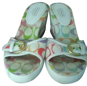 Coach Rubber White / multicolor Wedges