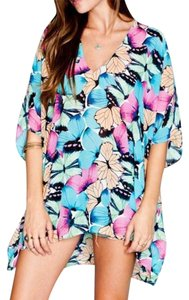 Show Me Your Mumu Cape Coverup Swim Peta Butterfly Swingy Boho Chic Festival Classic Summer Spring Tunic