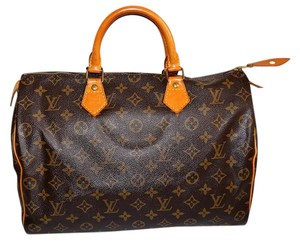 Louis Vuitton Canvas Leather Tote in Monogram