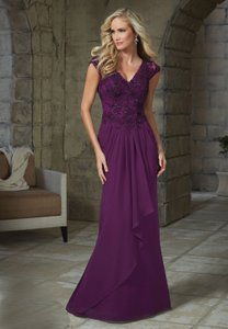 Violet Bolero Designer Mother Of The Groom Plus Siz Dress