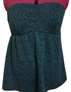 Torrid Top teal, black