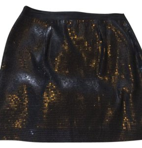 Banana Republic Mini Skirt Black sequin