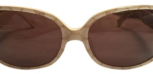 Dolce&Gabbana D&G creme/gold rectangle acetate sunglasses