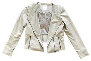 Pins and Needles Faux Leather Urban Outfitters Trendy Tan Light tan Leather Jacket