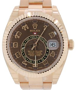 Rolex Rolex Sky-Dweller 42mm 18k Everose Gold Chocolate 326935 Watch