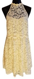 Free People short dress Ivory Lace Lace Short Lace Lacey Fp on Tradesy