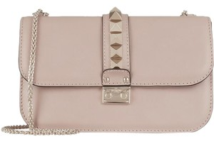 Valentino Rockstud Leather Lock Shoulder Bag