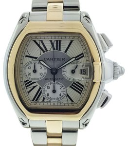 Cartier Cartier Roadster Chronograph Two Tone Stainless Steel 18k Yellow Gold