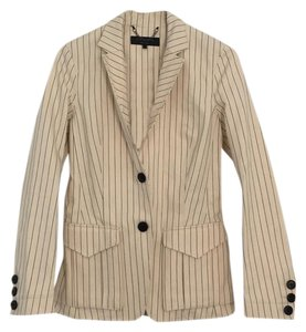 Rag & Bone cream with navy pinstripe Blazer