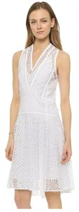 Rebecca Taylor short dress Sea Salt 100% Polyester Lace Concealed Back Zip Fully Lined on Tradesy