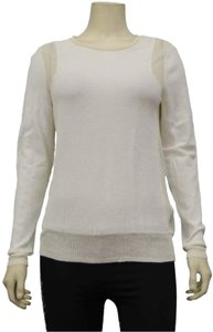 Rebecca Taylor Lightweight Fabric Dry Clean Only Banded Hem Round Neck Stretchy Sweater