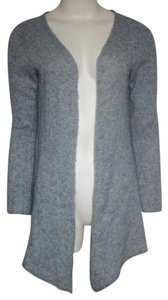 Garnet Hill Cashmere Cardigan High Low Open Front Sweater