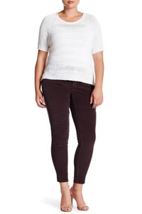 Democracy Stretch Corduroy Brown Mold And Hold Straight Pants ROAST