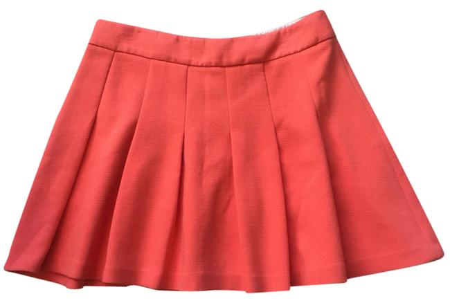 Banana Republic Orange Pleated A-line Mini Skirt Size 12 (L, 32, 33) Banana Republic Orange Pleated A-line Mini Skirt Size 12 (L, 32, 33) Image 1