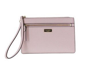 Kate Spade Saffiano Leather Tinie Laurel Way Wristlet in Pink
