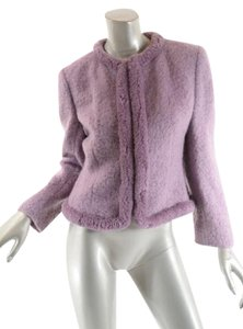 Valentino Boucle Mohair Easter Crop Lavender Jacket