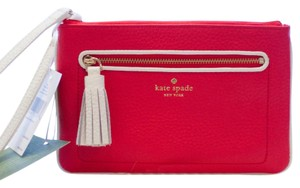 Kate Spade Pebbled Leather Tinie Chester Street Wristlet in Geranium/Cement