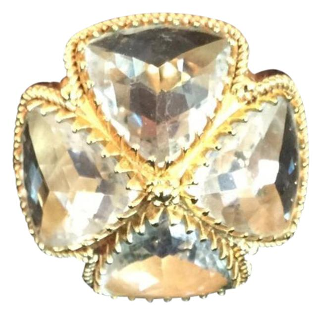 Item - Crystal/Gold Cocktail Ring