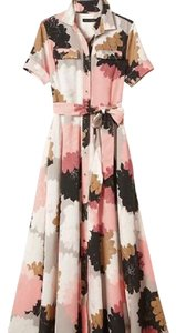 pink, multi Maxi Dress by Banana Republic