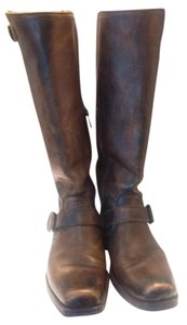 Frye Leather Tan Pebbled Antique Boots