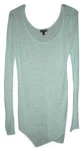 Express Knit Spring Asymmetrical Hem Tunic Long Sleeve Sweater