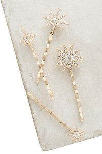 Anthropologie New Anthropologie Constellation Bobby pin Set Hair Clip bobby pins 4 p