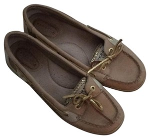 Sperry gold and tan Flats