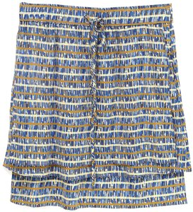 SUNO Skirt Blue, Brown, Ivory