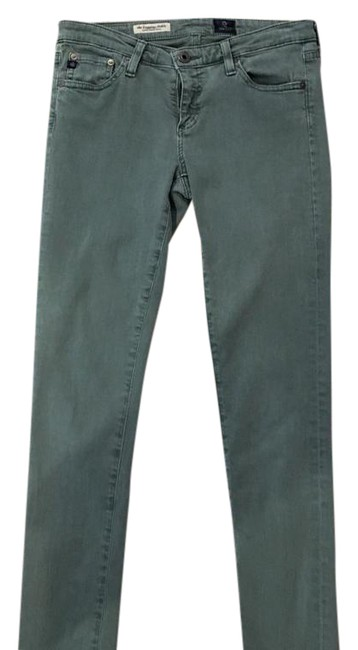 Item - Army Green Medium Wash The Legging Ankle Super Skinny Jeans Size 27 (4, S)