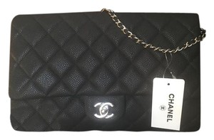 Chanel With Chain Envelope Envelope Cwc Black Clutch