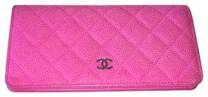 Chanel Chanel quilted caviar wallet