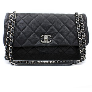Chanel Limited Edition Matte Lambskin Distressed Chain Shoulder Bag