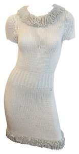 Chanel short dress grey Cashmere Knit Designer on Tradesy