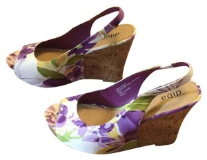 Diba purple, white, yellow, multicolor Wedges