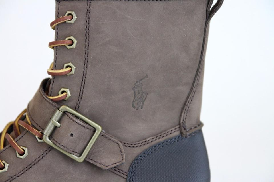 Ralph Leather Shoes Boot Polo Logo Lauren Woolton Nubuck W Brown Us 8 wIwdBa