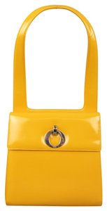Dior Leather Jackie O Patent Structured Shoulder Bag