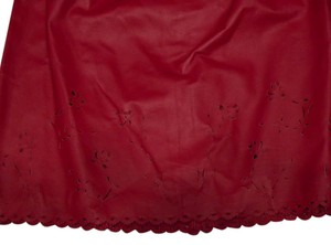Newport News Vintage Leather Cutout Skirt Red