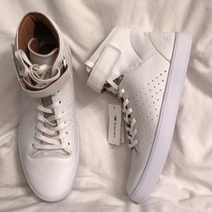 Lacoste New/nwt Leather Tennis High Tops White Athletic