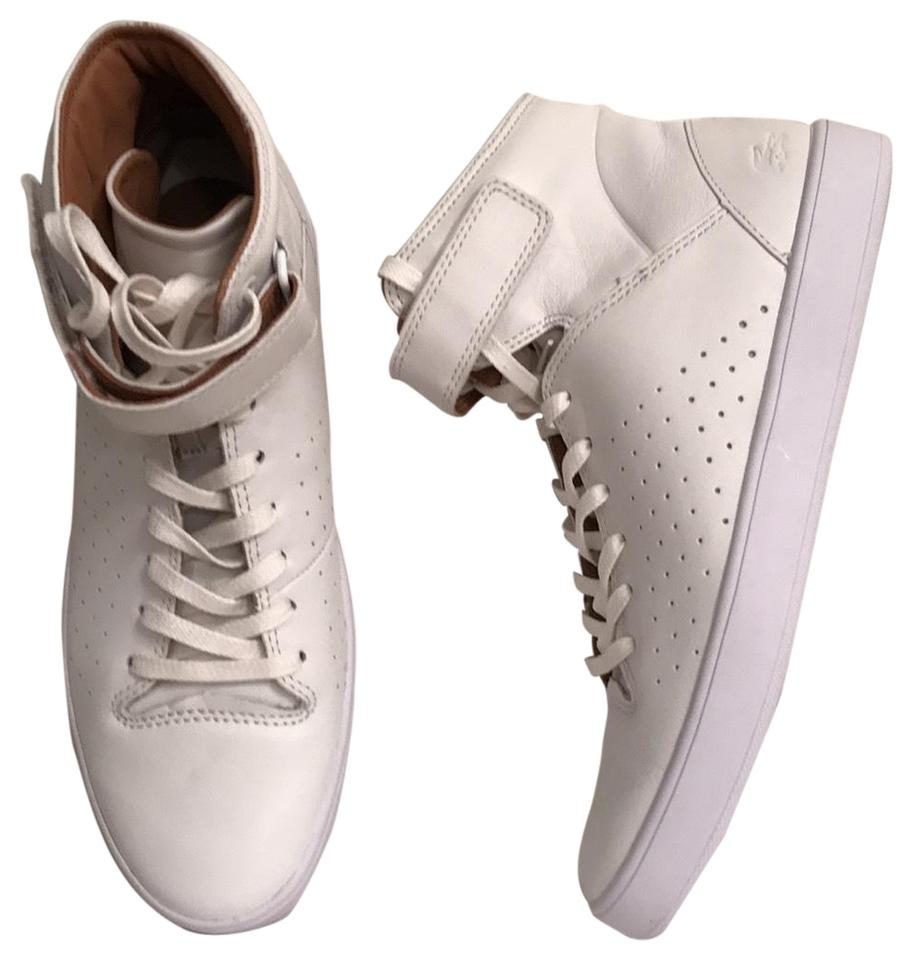 6b007285833bd9 Lacoste White New Tamora High Tops Leather Sneakers Size US 8.5 ...