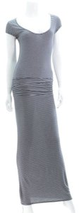 Black/White Maxi Dress by Soft Striped Ruched Maxi Spring