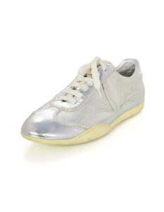 Louis Vuitton Sneaker Leather Logo Silver Athletic