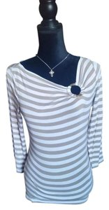 Michael Kors Top Gold and white stripe