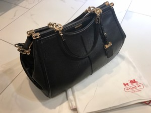 Coach Madison Caroline Leather 25245 Satchel in Black