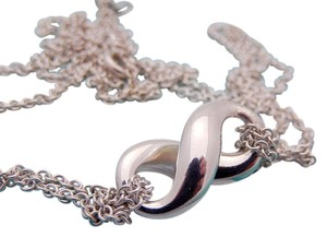 Tiffany & Co. Tiffany Infiniti Double Chain Necklace in Sterling Silver 925